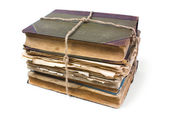 Un vieux livre d'un drap froissé — Photo