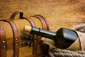 Pirate treasure chest — Stock Photo