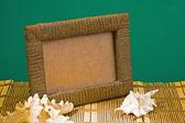 Frame of sea shells — Stock Photo