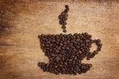 Obrázek šálek kávy z fazolí — Stock fotografie