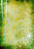 Background-old-floral-grunge-green — Stock Photo