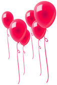 Red-balloons-isolated — Stock Photo