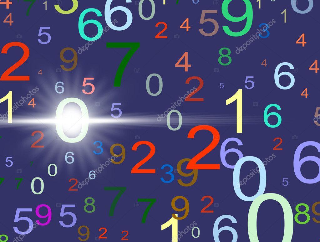 Красочные оказанных иллюстрации фона чисел