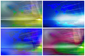 Set of binary backgrounds — Stock Photo
