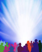 Audience-event-illustration — Stock Photo