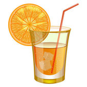 Orange drink with fruit — Stock Vector