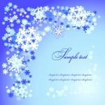 クリスマス雪をフレークします。 — ストックベクタ