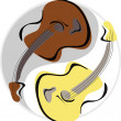 Stock Vector: Guitar yinyang