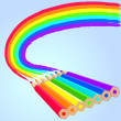 Rainbow pencils — Stock Vector