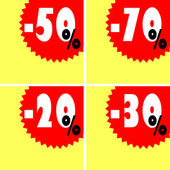 Discount signs — Stock Vector