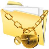 Folder locked — Stock Vector
