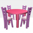 Children's chairs and a table - Stock Photo