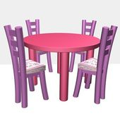 Children's chairs and a table — Stock Photo