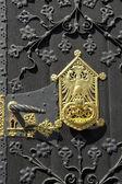 Wooden gate, Frankfurter Roemer — Stock Photo
