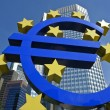 Euro symbol in front of the ECB building - Stockfoto