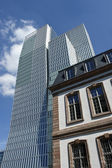 Architectural diversity, Frankfurt — Stock Photo
