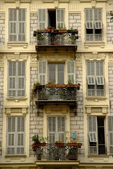 Balconies, Nice, French Riviera — Stock Photo