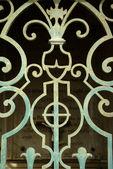 Wraught iron door, Nice, French Riviera — Stock Photo
