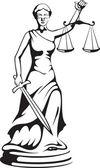 Themis - a deusa da justiça — Vetorial Stock