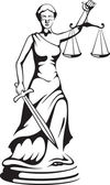 Themis - a goddess of justice — Vector de stock