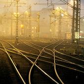 Confusing railway tracks — Stock Photo