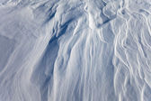 Windblown snow surface — Stock Photo