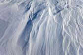 Windblown snow surface — Stock Photo