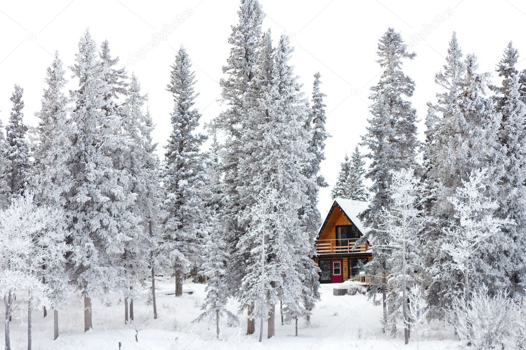 Christmas cottage in winter wonderland stock photo 169 pilens