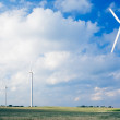 Windfarm on agricultural land — Stock Photo #3423610