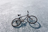 Bike on Ice — Stock Photo