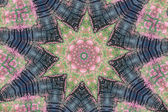 Flower kaleidoscope resembling a mandala — Stock Photo