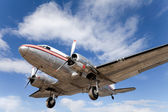 Restored vintage airplane DC-3 — Stock Photo