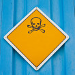Skull and crossbones warning sign — Stock Photo #3891815