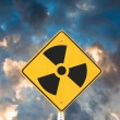 Stock Photo: Radioactive road sign