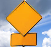 Empty road sign for your message — Stock Photo