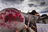 Diesel tank on scrapyard — Stock Photo