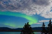 Aurora borealis (Northern lights) display — Stock Photo
