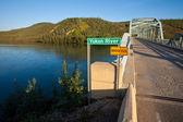 Yukon river bridge — Stock Photo