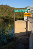 Yukon river bridge — Stock Photo
