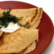 Pancakes with filling - Foto Stock