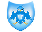 Twitter heraldic shield — Stock Vector