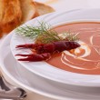 Fish Cream Soup - Stock Photo