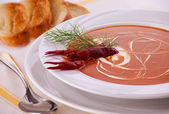 Fish Cream Soup — Stock Photo