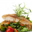 Fillet of white fish and vegetables — Stock Photo