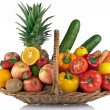 Stock Photo: Fruit and vegetables composition
