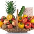 Фрукты и овощи договоренности — Стоковое фото