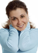 Smiling with friendly look — Stock Photo