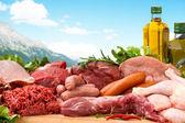 Diverse rått kött — Stockfoto