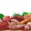 Assorted raw meats — Stock Photo