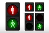Pedestrian traffic ligh — Stock Photo